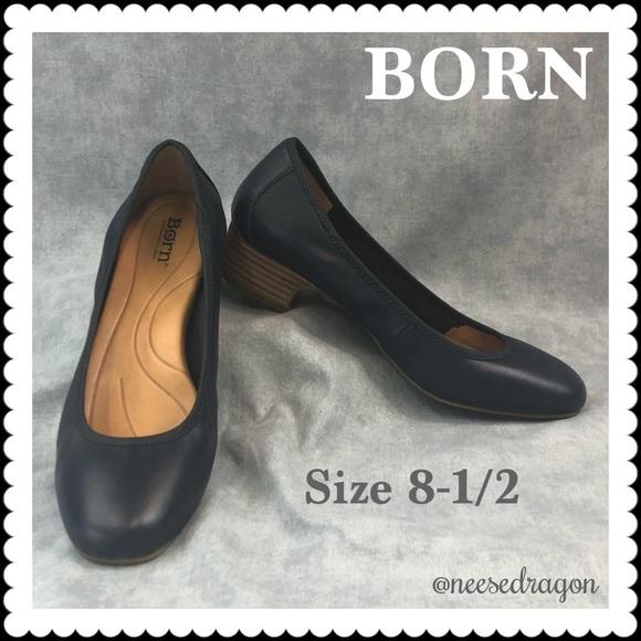 ca1213943ae7 Born Shoes - 👠 BORN Black Leather Slip On Flats